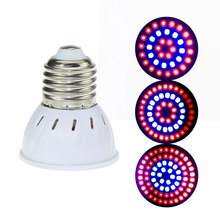 LED Grow Lamp E27/GU10/MR16 220 V Plant Licht 36 54 72 Leds Volledige Spectrum Groeien Lichten rood Blauw Led Voor Planten Groei Phyto Lamp
