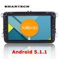 "8 ""Android 5.1 Автомобильные cd-Радио GPS Для VW Jetta Golf Polo Passat CC Tiguan EOS ПРОЦЕССОРА 1.6 Г RAM 1 Г ROM 16 Г Авто Мультимедиа Навител"