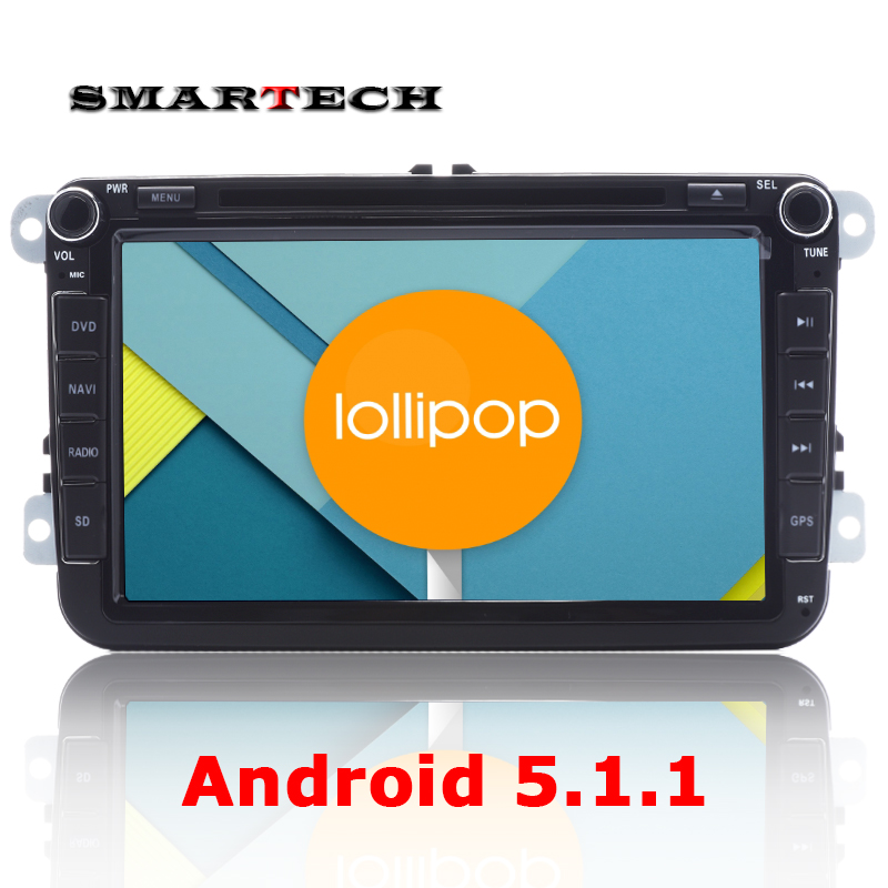 "8"" Android 5.1.1 Car Stereo RadioGPS For VW Jetta Golf Polo Passat CC Tiguan EOS CPU 1.6G RAM 1G ROM 16G Auto Multimedia SAT nav"