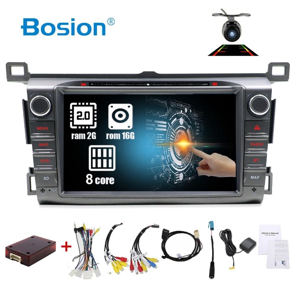 HD Octa 8 Core 2 din autoradio GPS Android 8.1 lecteur DVD de voiture pour Toyota RAV4 RAV 4 2013 2014 2015 2016 enregistreur radio cassette