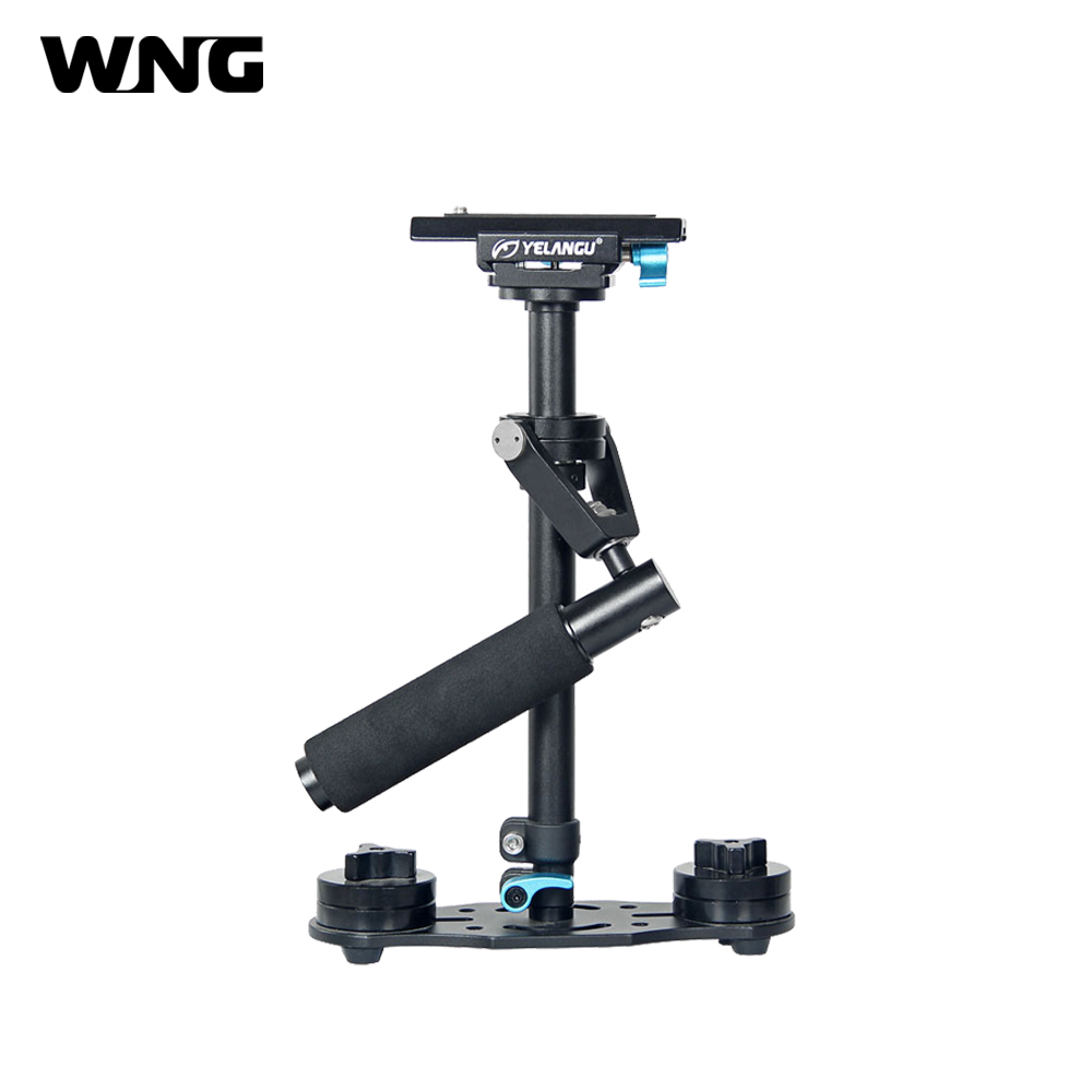 S40L Aluminum Stabilizer Hand-held Steadicam Micro Film Equipment for Camcorders DSLR Cameras ylg0102h dslr shoulder mount support rig double hand handgrip holder set for all video cameras and dv camcorders