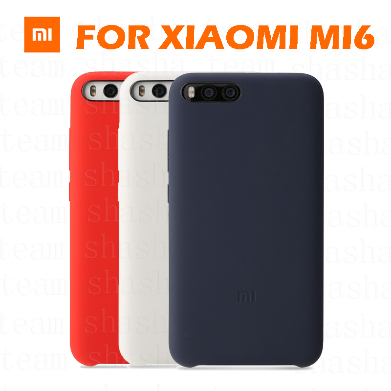 official original ultra thin matte silicon fiber lines cover for Xiaomi mi 6 m6 pro celular Flip case cover case for xiaomi mi6