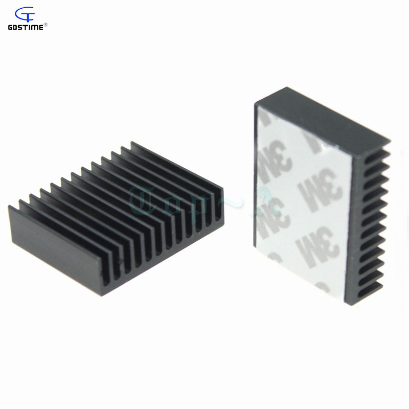 200 pcs 40x32x10mm Extruded Aluminum Heatsink 40mm Cooling Fan Radiator Heat Sink Cooler image