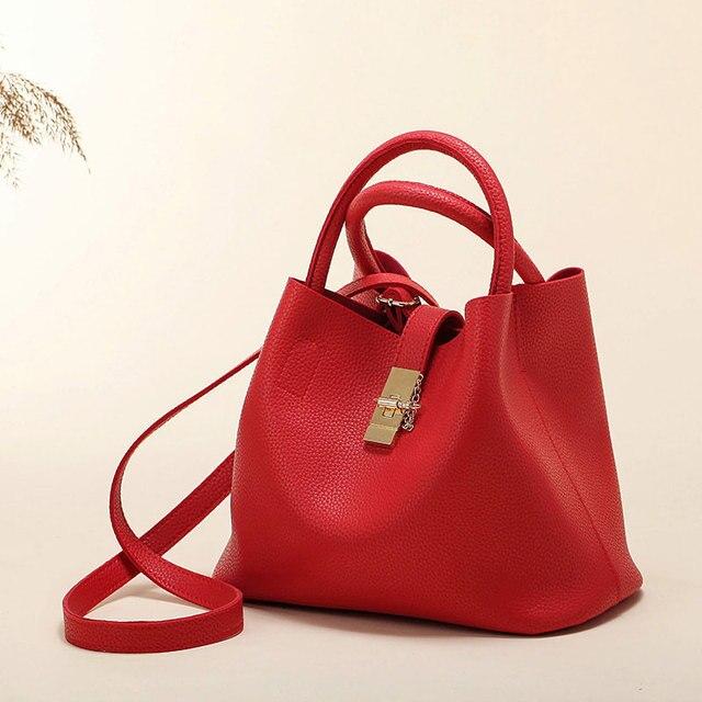 Women's Handbags Fashion Shoulder Bags Ladies Totes Simple Women PU Tote Bag 2