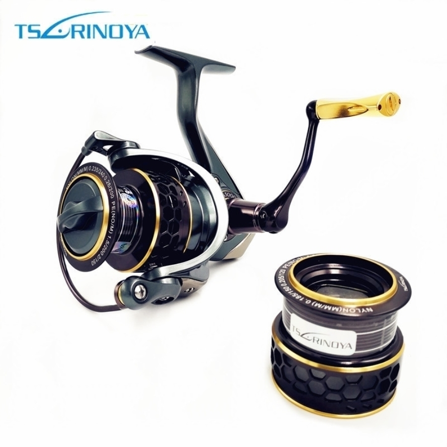 TSURINOYA Jaguar 4000 3000 2000 1000 Large Low Profile Double Spool Fishing Spinning Reel Saltwater Fishing Reels Carp Reels tsurinoya jaguar spinning fishing reel 1000 2000 3000 double metal spool carp wheel fishing tackle equipment 10bb 5 2 1