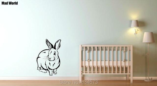 Diy Kamer Decoratie : Mad wereld konijn dier silhouet muur art stickers muurtattoo home