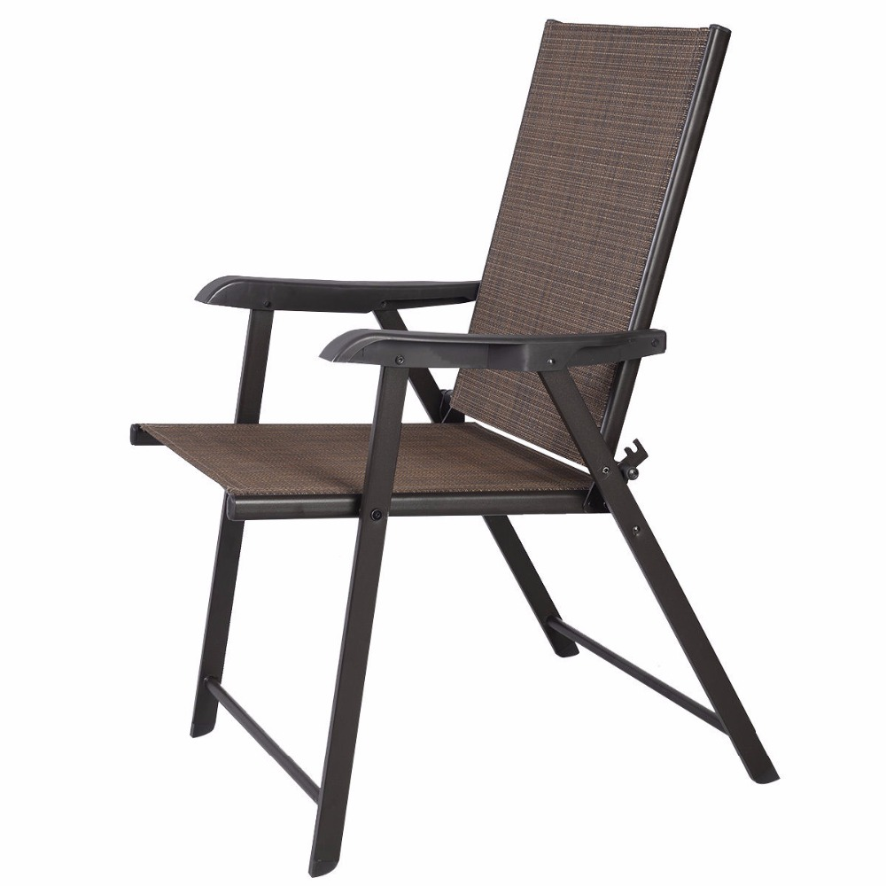 Foldable Patio Chairs Us 65 88 Set Of 2 Outdoor Patio Folding Chairs Furniture Camping Deck Garden Pool Beach Hw50331 In Chaise Lounge From Furniture On Aliexpress