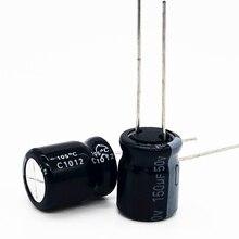 100PCS/LOT 50V 150UF 10*13 aluminum electrolytic capacitor 150uf 50V 20%
