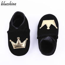 Black Genuine Leather Suede Baby Boys Shoes Baby Moccasins C