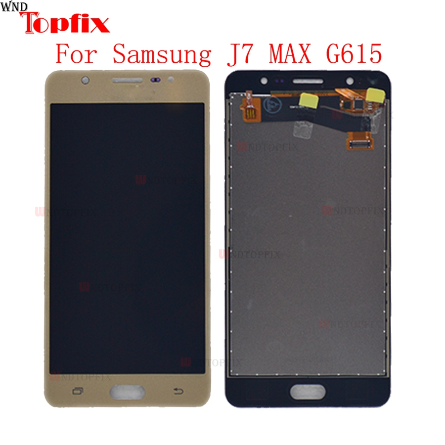 Mobile Phone Parts Symbol Of The Brand In Stock 5.7inch Lcd For Samsung J7 Max Test Working Lcd Display Touch Screen Digitizer Assembly Replacement For Samsung G615 To Clear Out Annoyance And Quench Thirst