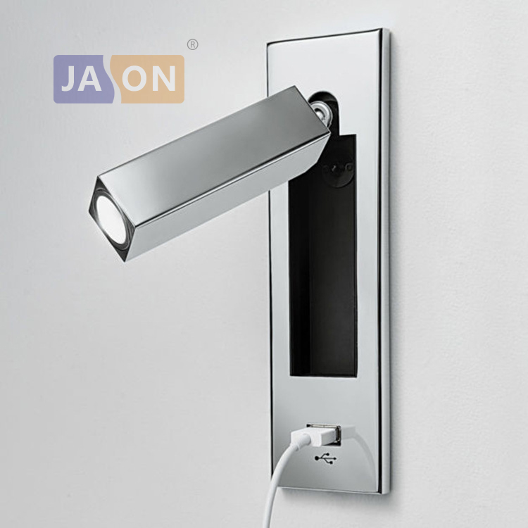 LED Nordic Iron Aluminum Rotated USB LED Wall lamp Wall Light wireless wall lamp Bedside lamp with Switch For Bedroom Corridor