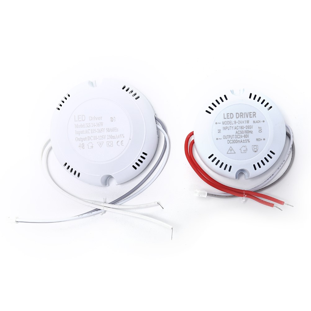 1 pc LED Driver ceiling Driver 24W 36w 220v round driver lighting transform for LED Downlights lights