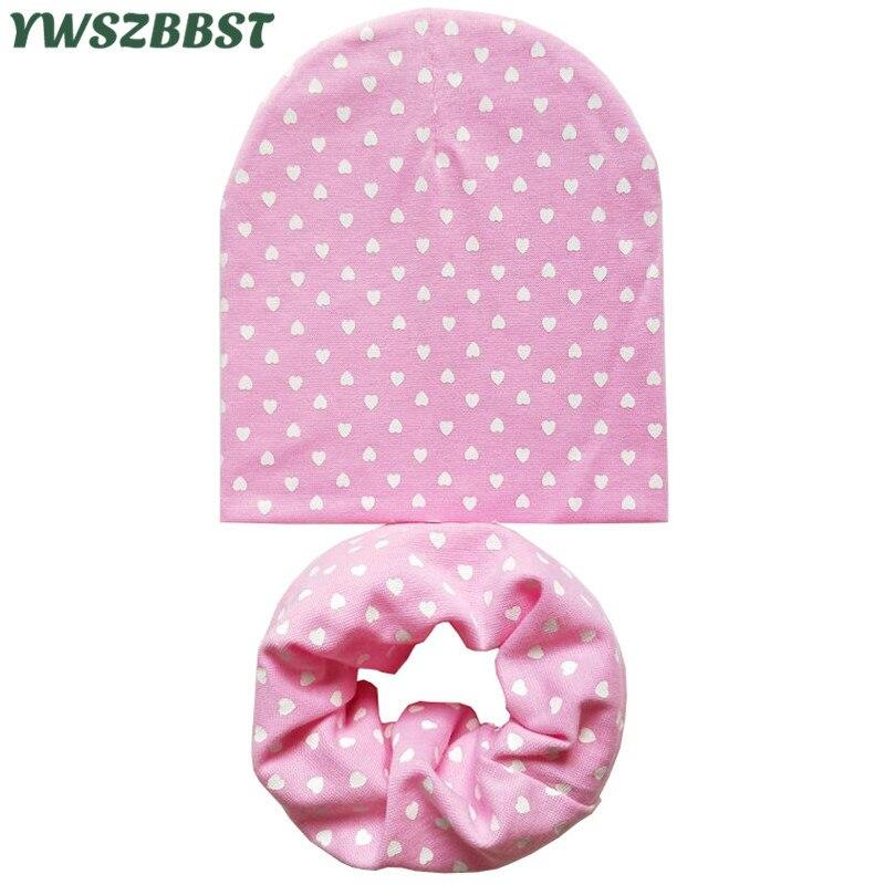 New Spring Cotton Baby Hat Children Hat Scarf Set Boys Girls Cap Autumn Winter Hats for Girls Baby Cap Kids   Beanies