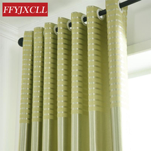 Polyester Modern Blackout Curtains Drapes for Living Room Bedroom Window Tulle Fabrics Kitchen Jacquard Striped