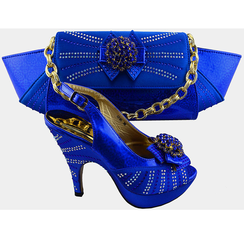 704d34ad0 GF45 Beautiful Ladies Shoes And Bags Sets Italian Matching Shoe And Bag  Set,Royal blue color Shoes Matching Bags.Size38-42