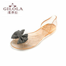3818ebab483b2 new women sandals flats black bowtie sandal crystal ladies spring summer  shoes woman best  Y0731358Q