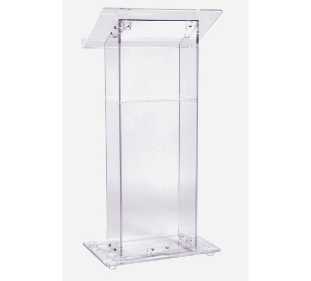 Floor Standing Acrylic Church Lectern Reception Desk Clear Acrylic Church Pulpit Church Acrylic Podium