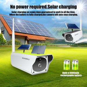 Image 2 - 1080P 무선 태양 카메라 와이파이 충전식 배터리 IP 카메라 HD 야외 보안 감시 CCTV 카메라 PIR 모션 센서