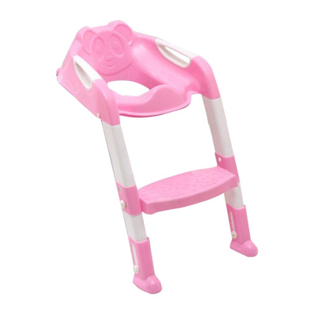 Formación orinal bebé del asiento para niños orinal bebé inodoro con escalera ajustable bebé infantil aseo asiento plegable