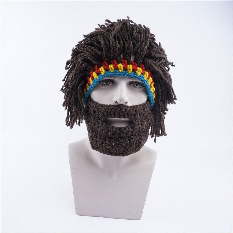 Sombrero de los hombres de La Novedad Del Vagabundo Peluca Barba ...