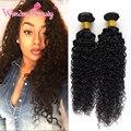 Малайзийский Вьющихся Волос 4 Шт. Малайзийские Виргинские Странный Вьющиеся Человеческие Волосы Ткет Чудо Красоты Малайзии Девы Волос Связки 1B