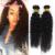 Cabelos encaracolados malaio 4 Pcs de Admirar a Beleza Da Malásia Virgem Kinky Curly Cabelo Humano Tece Cabelo Virgem Malaio Feixes 1B