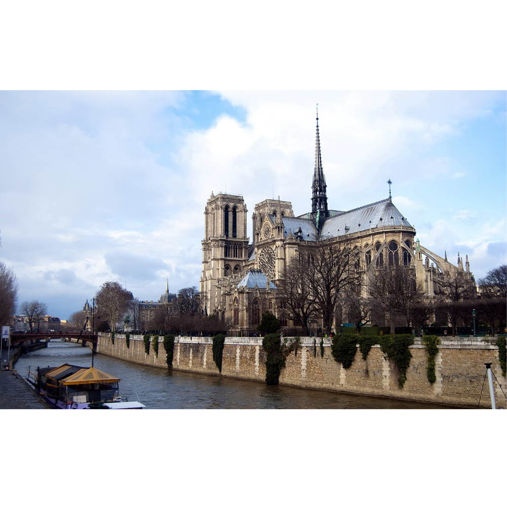 5D DIY Full Drill Diamond Painting Notre Dame de Paris Cross Stitch Decor Craft