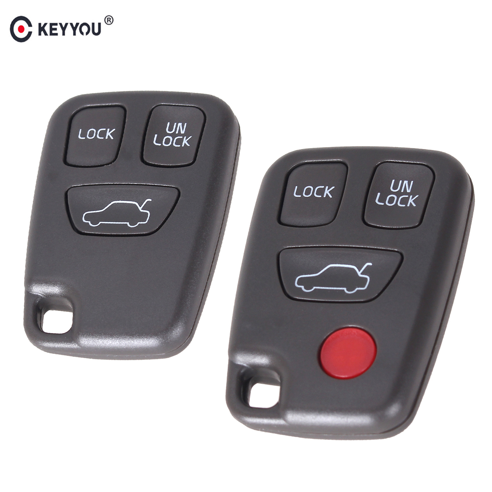 KEYYOU <font><b>Replacement</b></font> 3/4 3+1 Buttons <font><b>Key</b></font> Shell For <font><b>Volvo</b></font> <font><b>S40</b></font> S60 S70 S80 S90 V40 V70 V90 XC70 XC90 Remote <font><b>Key</b></font> Car Fob Case Cover image