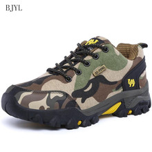 BJYL New Men ventilation set foot Casual shoes fashion Outdoor running Camouflage sneakers mens hiking B180