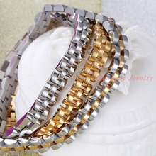 High Quality Fashion Jewelry Stainless Steel Bracelet Men Women Wristband Bracelet Gift Silver Gold Choose