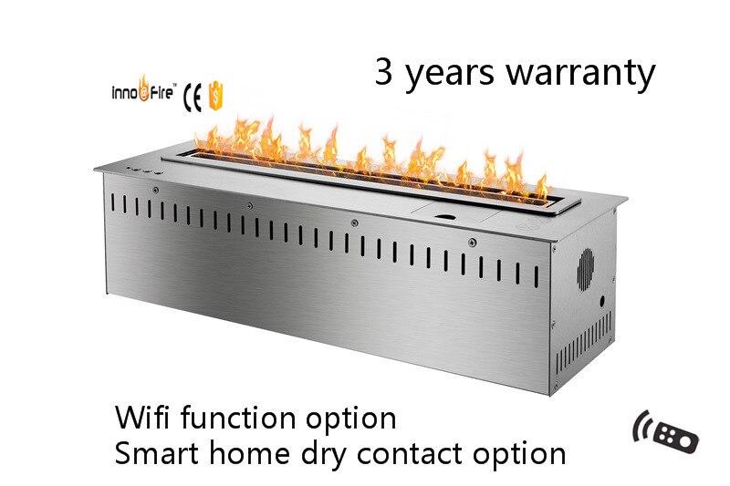 24inch Long Silver Or Black Remote Control Intelligent Bio Ethanol Fireplace Burner Insert