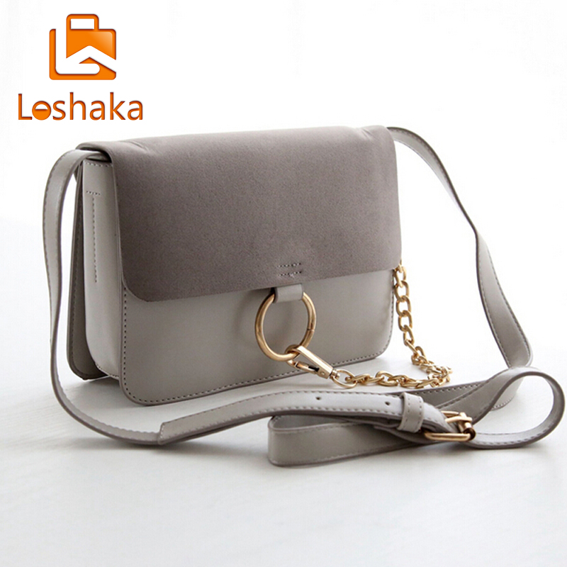 Aliexpress Fashion Women Messenger Suede Leather Small Shoulder Flap