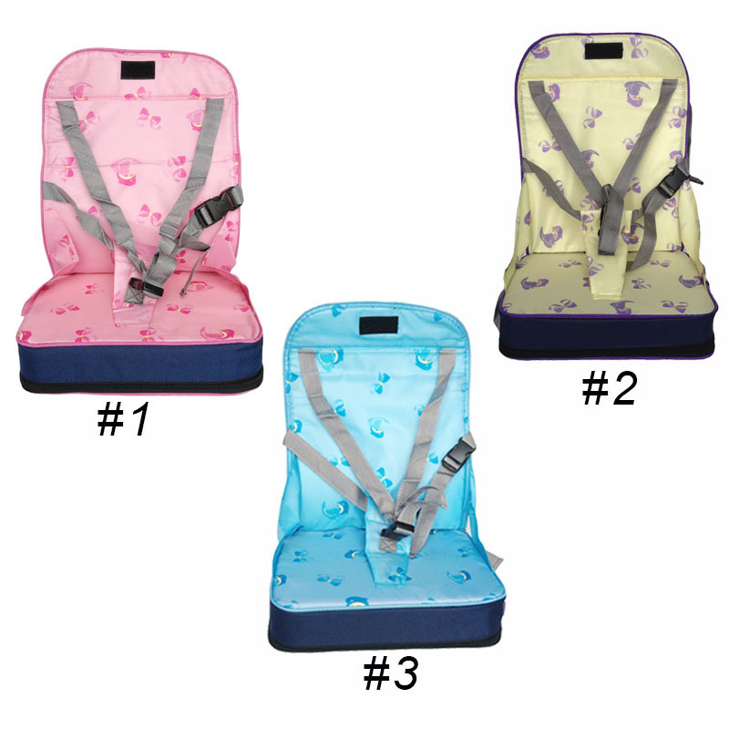 Baby Portable Booster Dinner Chair Oxford Water Proof Chair Fashion Seat Feeding Highchair For Kids Chair For Christmas Gift