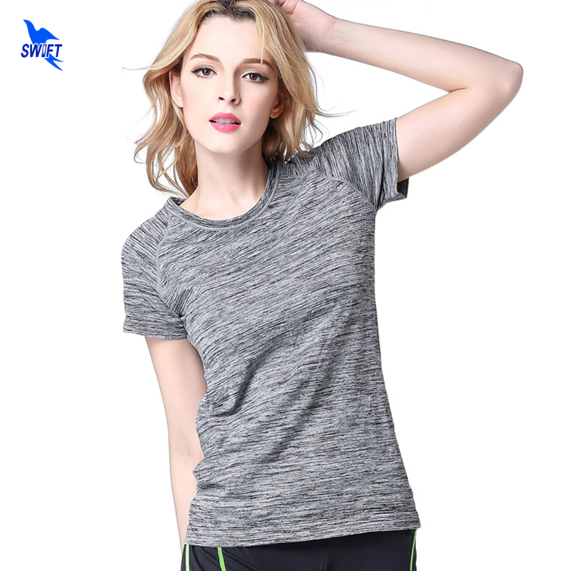 5 Colors Women Yoga Shirt for Fitness Running Jogging T Shirt Gym Sport Quick Dry Breathable Exercises Short Sleeve Tank Top