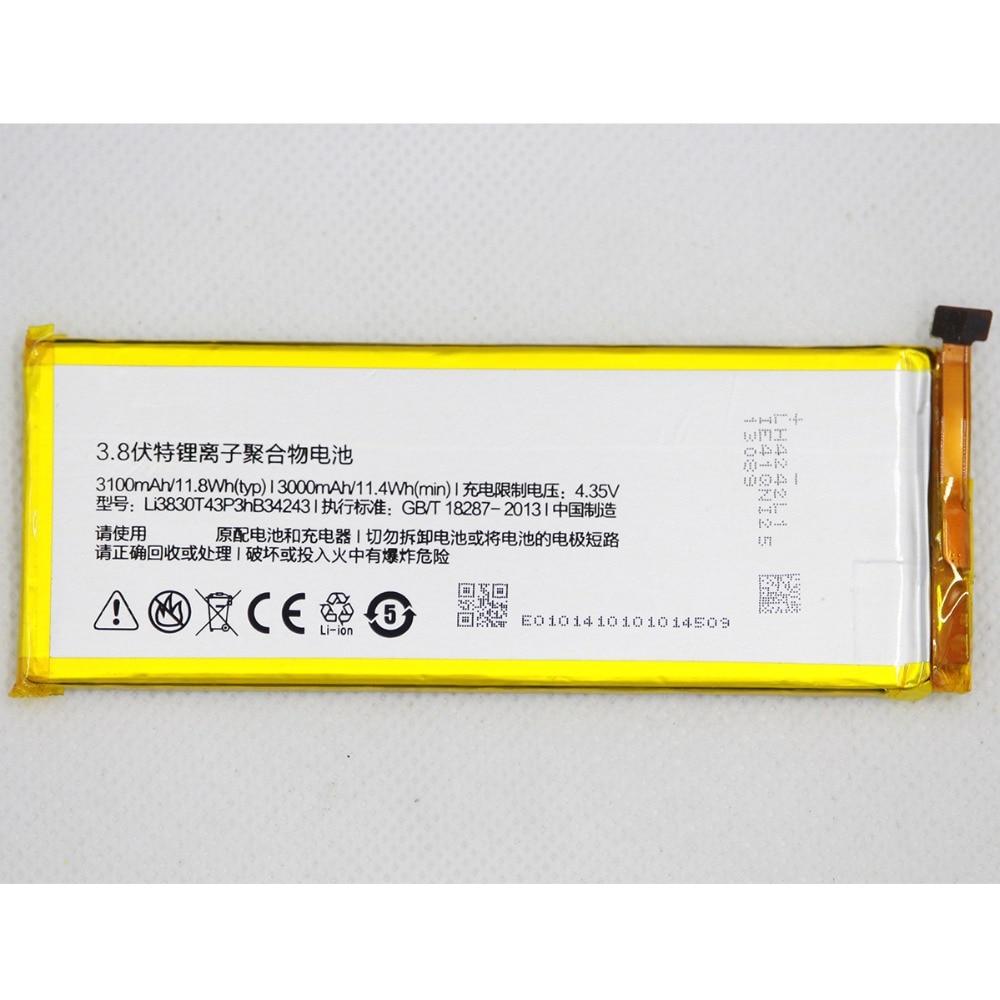 20 unids/lote Li3830T43P3hB34243 batería interna para teléfono móvil ZTE Nubia Z7 MAX NX505J 3100mAH batería de repuesto para teléfono móvil