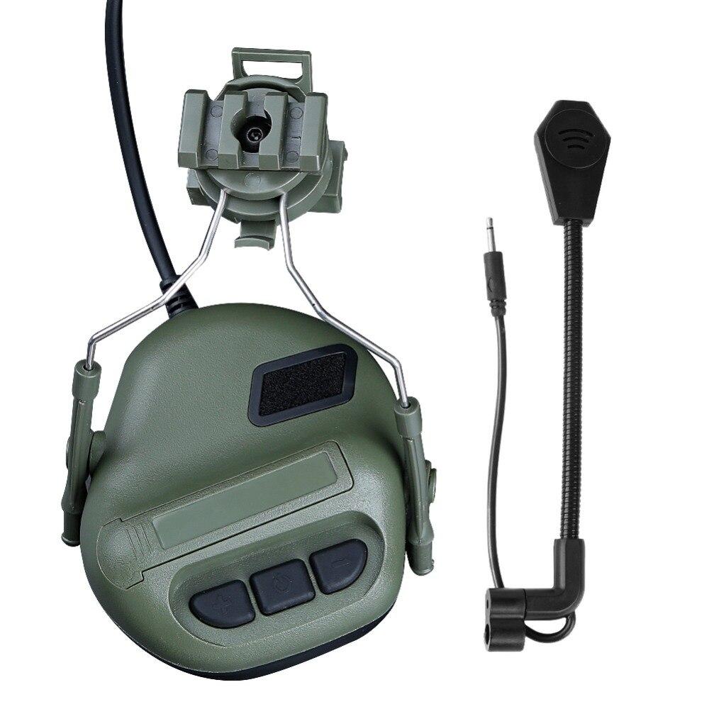 Capacete militar fone de ouvido com adaptador
