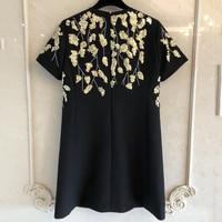 Женское пляжное стильное летнее платье с принтом модные летние женские с короткими рукавами платье 2019 Новое Женское платье