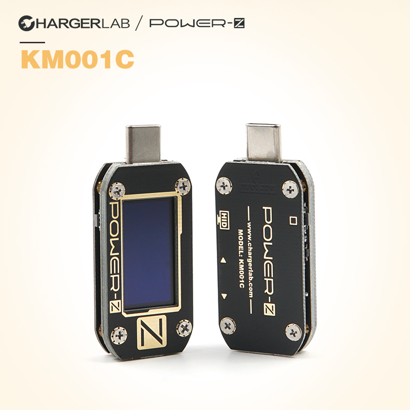 ChargerLAB POWER-Z USB PD Voltage and Current Ripple Double Type-C Tester KM001CChargerLAB POWER-Z USB PD Voltage and Current Ripple Double Type-C Tester KM001C