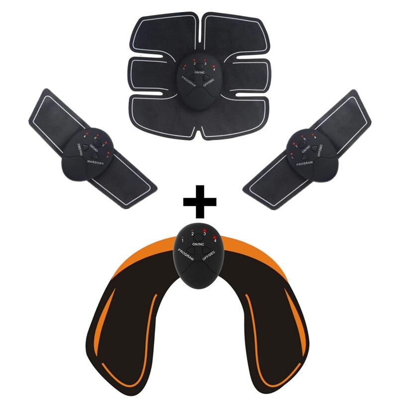 Unisex EMS Estimulador Quadris Nádegas ABS Abdominal Trainer Estimulador Muscular Elétrica Sem Fio de Fitness Slimming Massageador Corporal