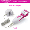 Red charged waterproof pedicure electric tools Foot Care  Exfoliating Foot Care Tool 1ps roller pedicure heads scholls function