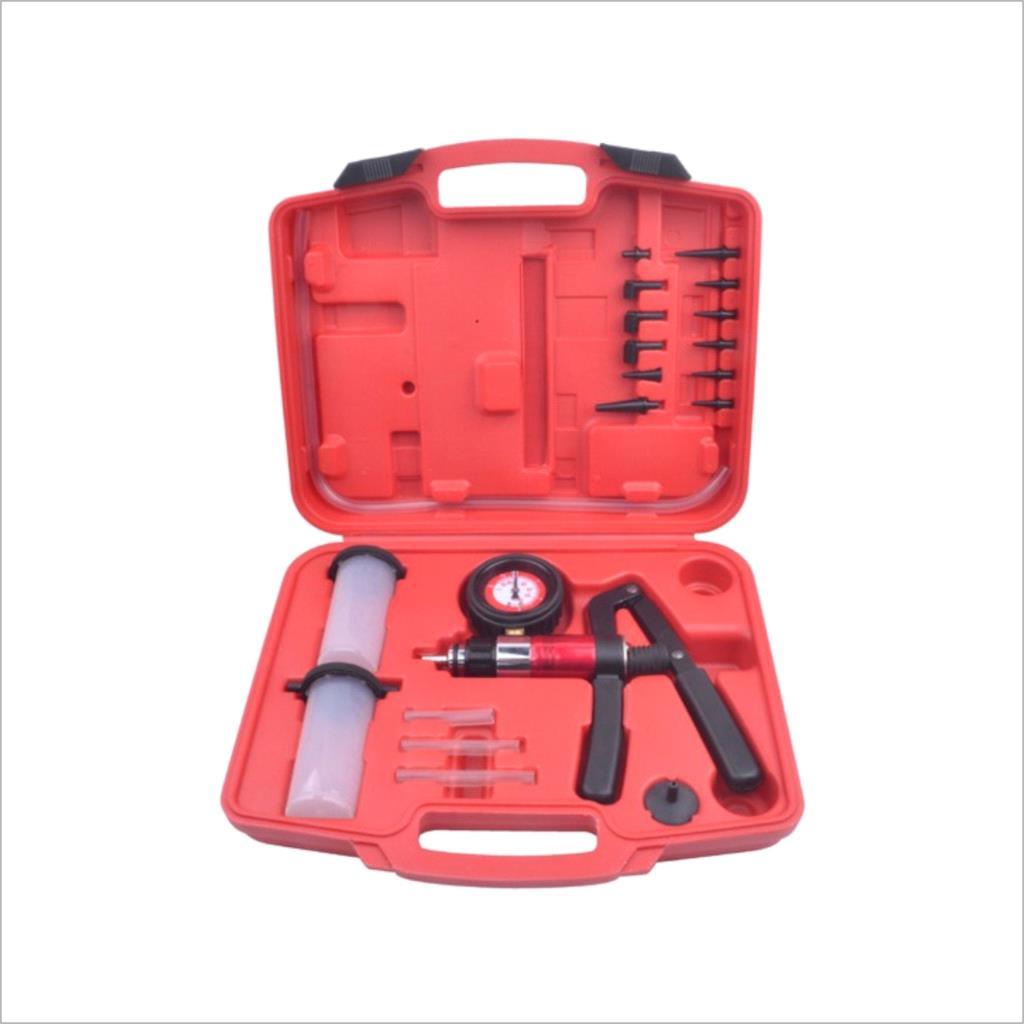 Hand Held Vacuum Pressure Pump Tester Brake Fluid Bleeder Bleeding Kit