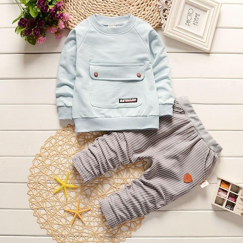 BibiCola Fashion Baby Boys Clothing Sets Spring Autumn Toddler Boy Sport Suit Top Blouse + Pants Suits Kids Tracksuits Set Одежда