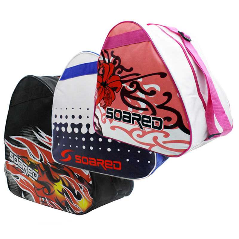 2018 Professional Graffiti Ice Ski Snow Boots Ice Skate Shoes Helmet Portable Carry Shoulder Bag For Snowboard ACC 38x38x23cm