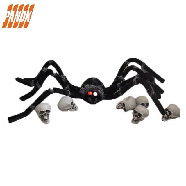 Poseable Pelzigen Spinne Licht Up Riesen Spinne Halloween ...