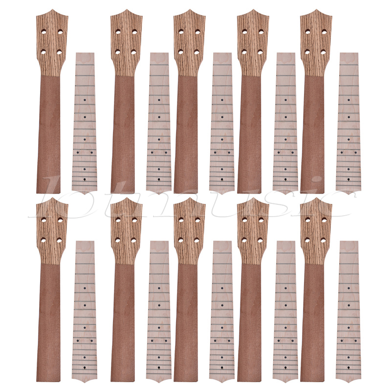 Neck and Fretboard for Ukulele Concert Ukelele Uke 23 Inch Hawaii Guitar Parts Luthier Diy Maple Set of 10 soprano concert tenor ukulele bag case backpack fit 21 23 inch ukelele beige guitar accessories parts gig waterproof lithe