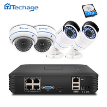 Techage Plug & 1080 P POE NVR CCTV System 2.0MP Dome Indoor Outdoor Ip-kamera P2P IR FULL HD Sicherheitsüberwachung Kit