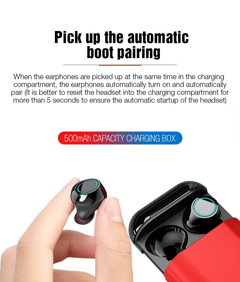 TOMKAS Bluetooth Headphones TWS Earbuds Wireless Bluetooth Earphones Stereo Headset Bluetooth Earphone With Mic and Charging Box (4)