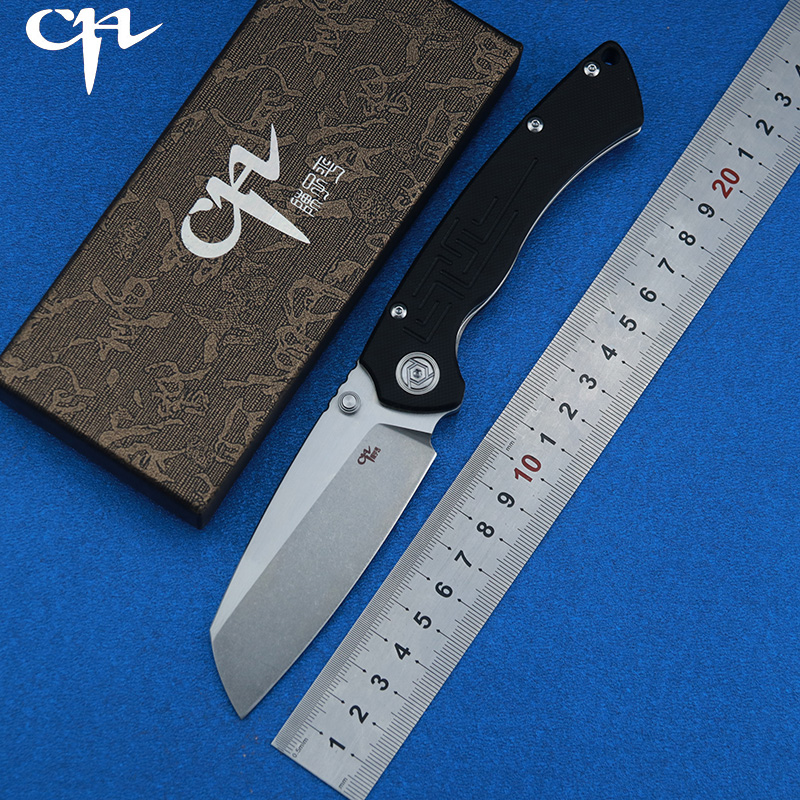 CH New  folding knife toucans D2 blade ball bearing washer G10 handle outdoor camping hunting pocket knife EDC toolsCH New  folding knife toucans D2 blade ball bearing washer G10 handle outdoor camping hunting pocket knife EDC tools