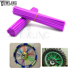 Universal motorcycle Dirt Bike Enduro Off Road Wheel RIM Spoke Skins covers for Honda CR YZ RM KX 85 MOTOR CYCLE 500 CRF YZF