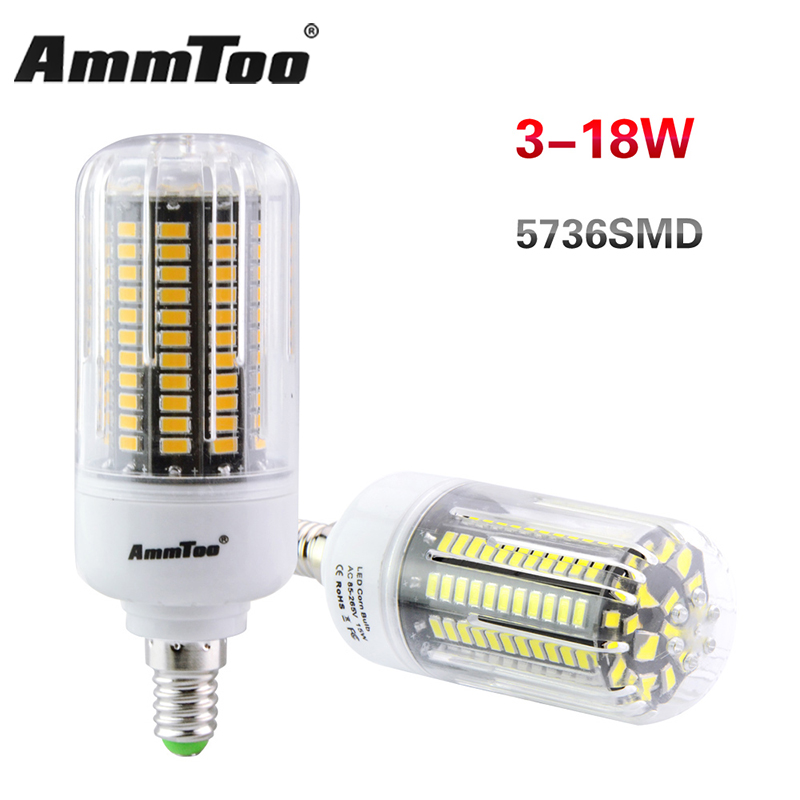 E27 E14 12W 15W 18W SMD 5736 LED Maïs Ampoule LED Lampe Non-dimmable light Bulbs